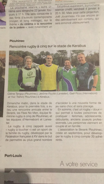 TOUS AU RUGBY TOUCH!!